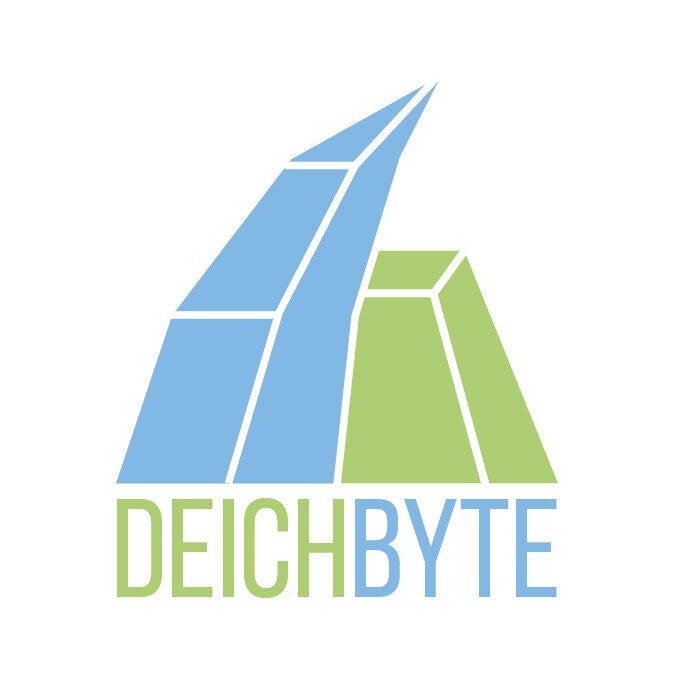 Das DeichByte Logo mit Schriftzug